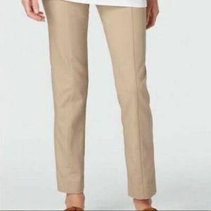 J. Jill Tan Ponte Knit Stretch Pants